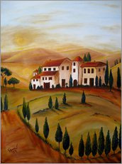 Wall sticker  Sunrise in Tuscany - Christine Huwer