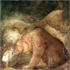 Gallery print  Poor little bear - John Bauer