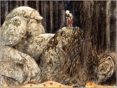 Wall sticker  The Child and the Stone Troll - John Bauer