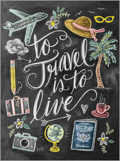 Wall sticker  To travel is to live - Lily & Val