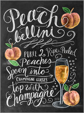 Wall sticker  Peach Bellini recipe - Lily & Val