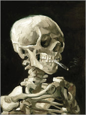 Wall sticker  Skeleton with a burning cigarette - Vincent van Gogh