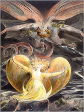 Wall sticker  The great red dragon and the woman clothed with sun - William Blake