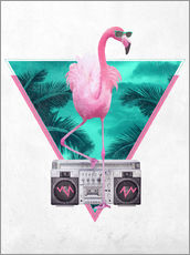 Wall sticker  Miami Flamingo - Robert Farkas