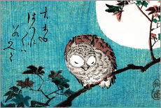 Gallery print  Sleeping owl full moon - Utagawa Hiroshige