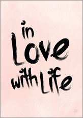 Wall sticker  in love with life - m.belle