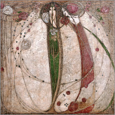 Gallery print  The white rose and the red rose - Margaret MacDonald Mackintosh