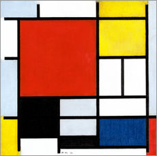 Gallery print  Composition with red, yellow, blue and black - Piet Mondriaan