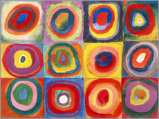 Wall sticker  Colour study - squares and concentric rings - Wassily Kandinsky