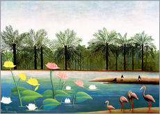 Wall sticker  The flamingos - Henri Rousseau