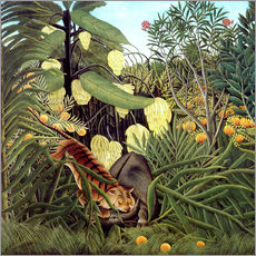 Gallery print  Combat of tiger and buffalo - Henri Rousseau