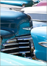 Wall sticker  Vintage American cars parked on a street in Havana Centro, Havana, Cuba, West Indies, Central Americ - Lee Frost