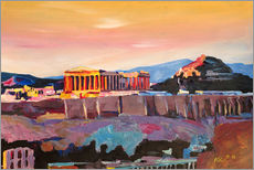 Gallery print  Athens Greece Acropolis At Sunset - M. Bleichner