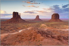 Gallery print  Monument Valley at dusk - Chris Hepburn