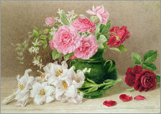 Wall sticker  Roses and lilies - Mary Elizabeth Duffield
