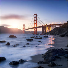 Wall sticker  San Francisco Golden Gate Bridge - Jan Christopher Becke
