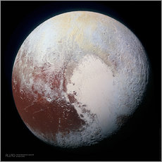 Wall sticker  Pluto, seen by New Horizons spacecraft - Sascha Kilmer
