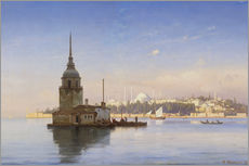 Wall sticker  The Maiden's Tower (Maiden Tower) with Istanbul in the background - Carl Neumann