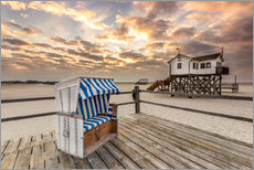 Wall sticker  Sankt Peter Ording, Baltic Sea in the Morning - Dennis Stracke