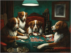 Wall sticker  The poker game - Cassius Marcellus Coolidge