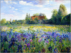 Wall sticker  Field of Flowers in the Sunset - Timothy Easton