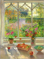 Gallery print  Overlooking the garden - Timothy Easton