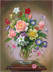 Wall sticker  Roses, Peonies and Freesias - Albert Williams