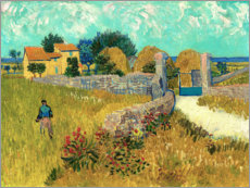Wall sticker  Farmhouse in the Provence - Vincent van Gogh