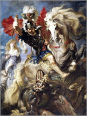 Aluminium print  St. George and the Dragon - Peter Paul Rubens