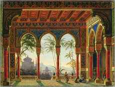 Gallery print  Stage design for the opera 'Ruslan and Lyudmila' by M. Glinka - Andreas Leonhard Roller