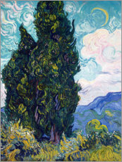 Canvas print  Cypresses - Vincent van Gogh