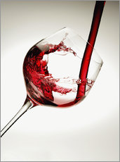Gallery print  Red wine in a glass - Richard Desmarais