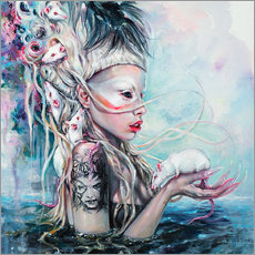 Wall sticker  Yolandi, the rat mistress - Tanya Shatseva