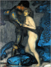 Wall sticker  Le Chasseur de Dragon - Franz von Stuck