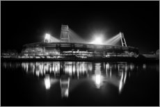 Wall sticker  Weserstadion, Bremen in black and white - Tanja Arnold Photography