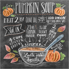 Wall sticker  Pumpkin soup recipe - Lily & Val