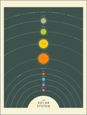 Foam board print  The solar system - Jazzberry Blue