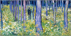 Acrylic print  Undergrowth with two figures - Vincent van Gogh
