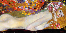 Wall sticker  Water Serpents II (detail) - Gustav Klimt