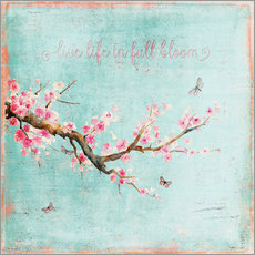 Wall sticker Live life in full bloom