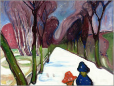 Premium poster  New Snow in the Avenue - Edvard Munch