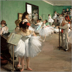 Wall sticker  The Dance Class - Edgar Degas