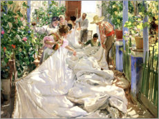 Gallery print  Sewing the sail - Joaquín Sorolla y Bastida