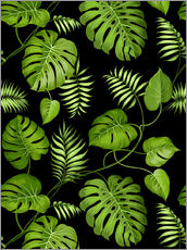 Wall sticker  Monstera with palms