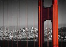 Gallery print  Golden Gate Bridge in Detail - Melanie Viola