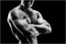 Gallery print  Bodybuilder with arms crossed