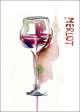 Wall sticker  Glass of Merlot