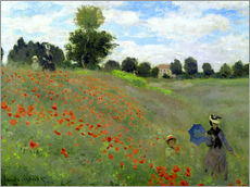 Gallery print  Poppy field at Argenteuil, detail - Claude Monet