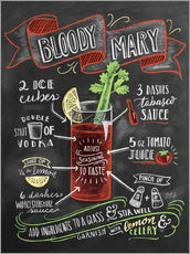 Wall sticker  Bloody Mary recipe - Lily & Val