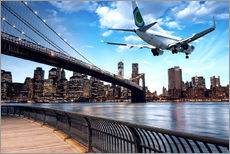 Gallery print  Aircraft flying over New York City